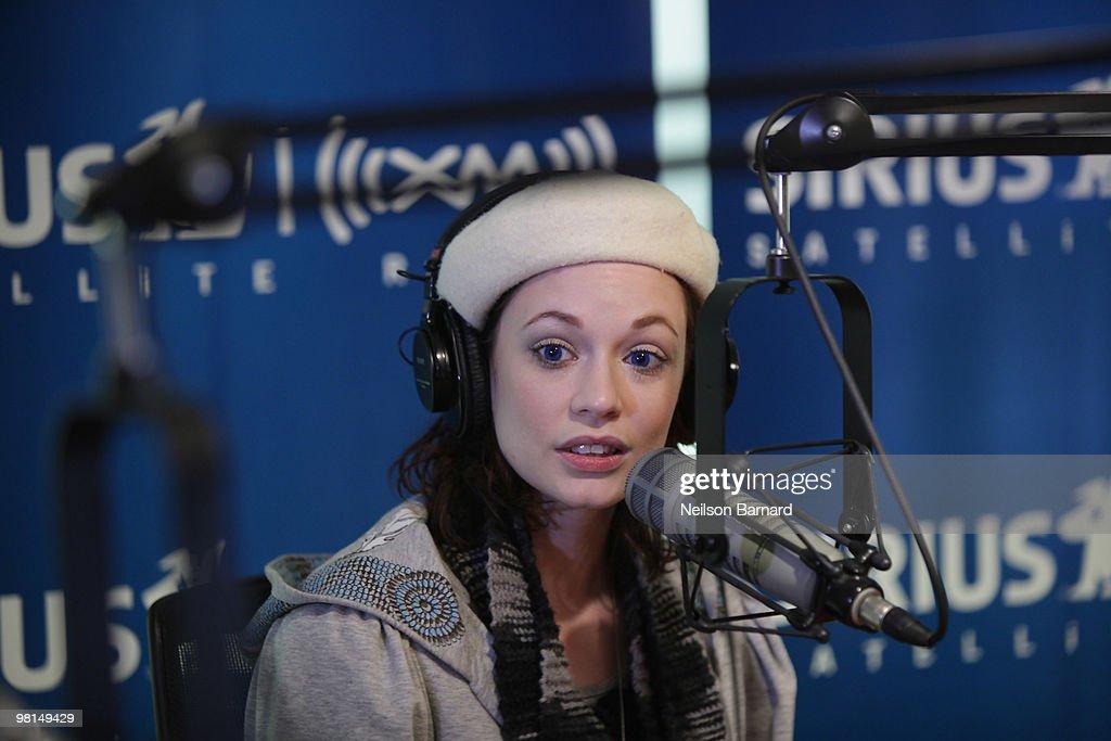 Justine Joli Visits SIRIUS XM Radio : News Photo
