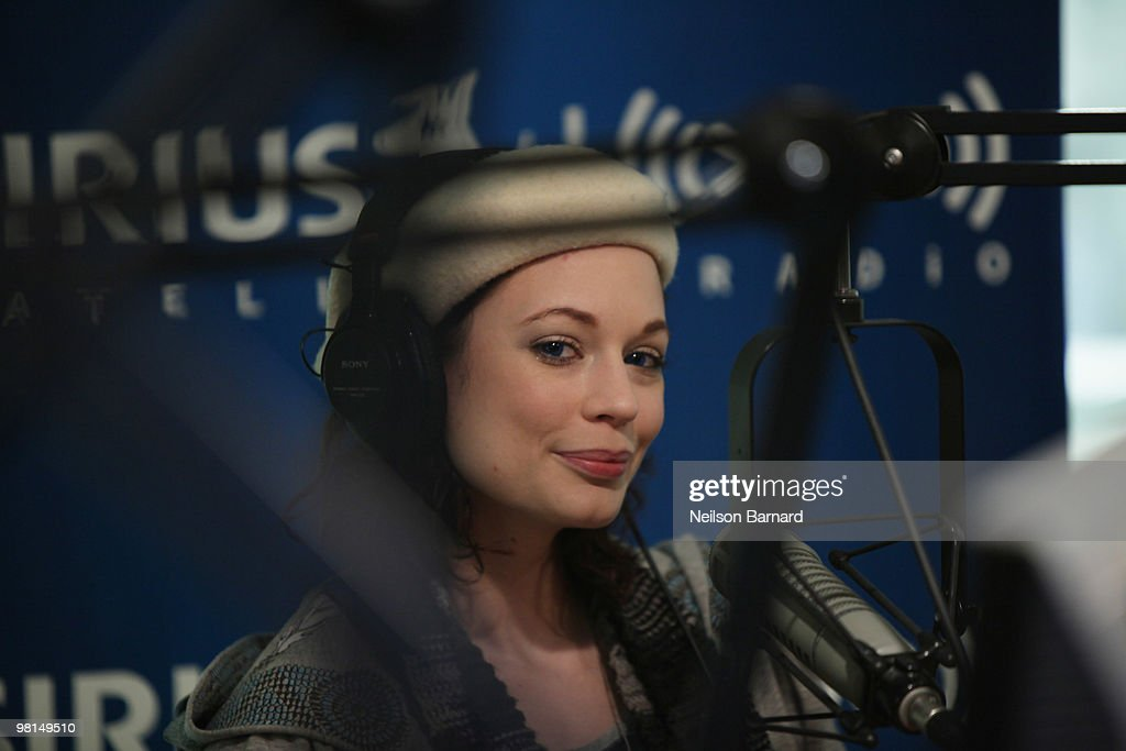 Justine Joli Visits SIRIUS XM Radio : News Photo