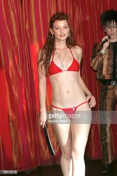 Penthouse Playmate Justine Joli at the MercedesBenz Fashion Week Spring 2008 Penthouse Fashion Show