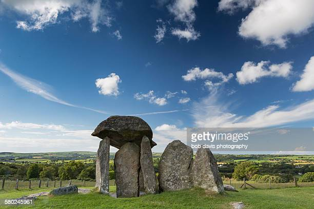 Pentre Ifan under a summer sky