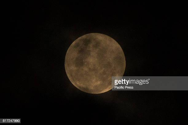 Penumbral lunar eclipse visible at night in PekanbaruThis phenomenon occurs when the Moon moves through the faint outer part of the Earth's shadow