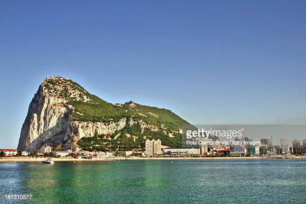 peñon de gibraltar, uk - rock of gibraltar stock photos and pictures