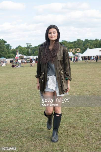 Peony Lim attending Wilderness festival 2017 wearing a Theory jacket Chanel back pack and Hunter wellies available from Harrodscom on August 6 2017...