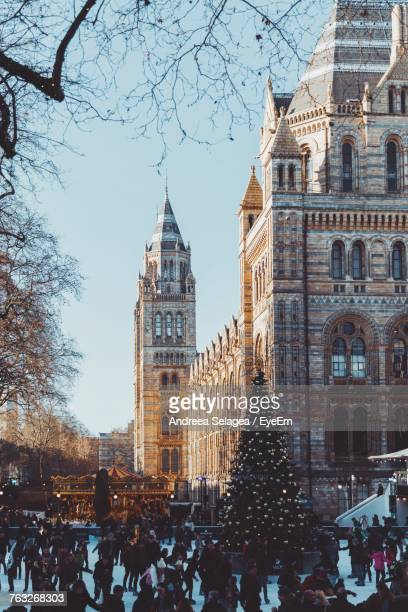 People Against Natural History Museum During Christmas