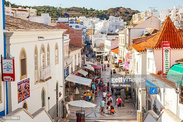 people, albufeira, algarve, portugal - albufeira stock pictures, royalty-free photos & images