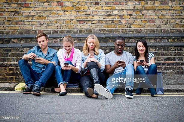People alienated on their phones