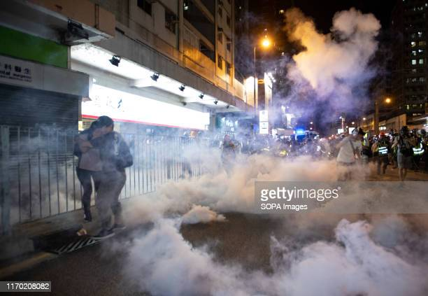 People amidst teargas during the protest Hong Kong Protest entered its 16th straight weekend More demonstrations have continued in spite of Hong Kong...