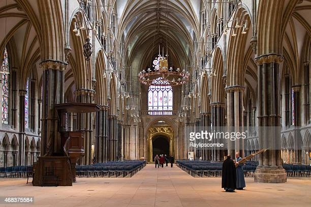 people and clergy gathering before a palm sunday service - nave stock pictures, royalty-free photos & images