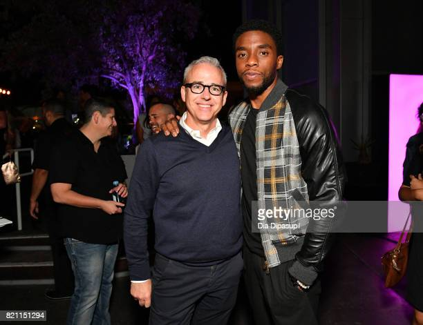 People and Entertainment Weekly Editorial Director Jess Cagle and Chadwick Boseman at Entertainment Weekly's annual ComicCon party in celebration of...