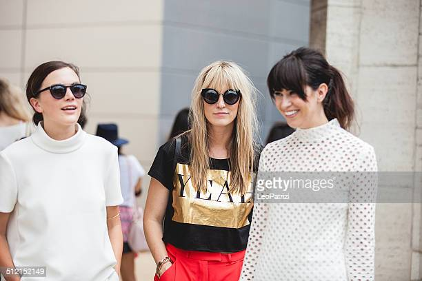 people and models spotted new york fashion week 2014 - fashion week stock pictures, royalty-free photos & images