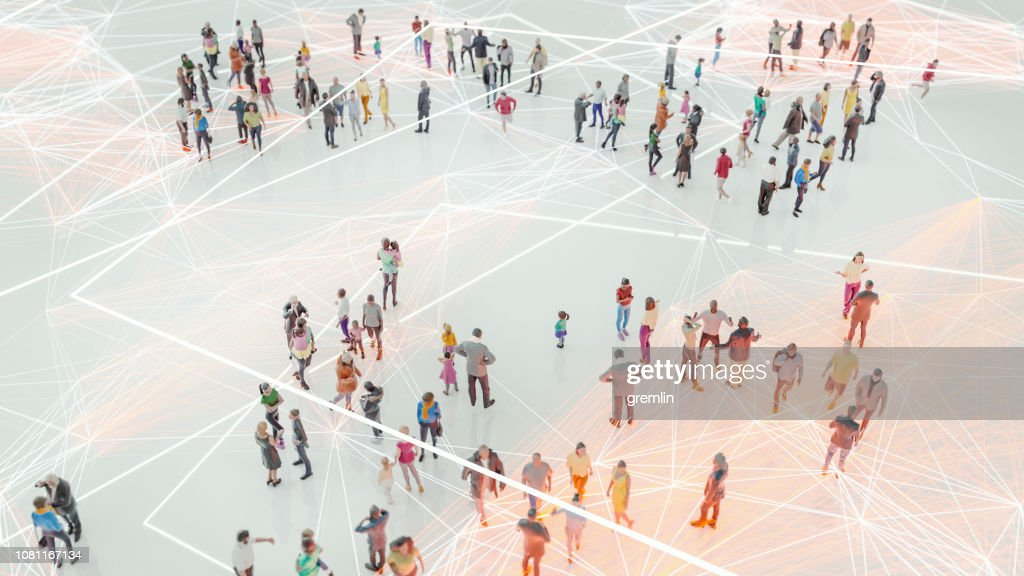 People and modern technology connection : Stock Photo