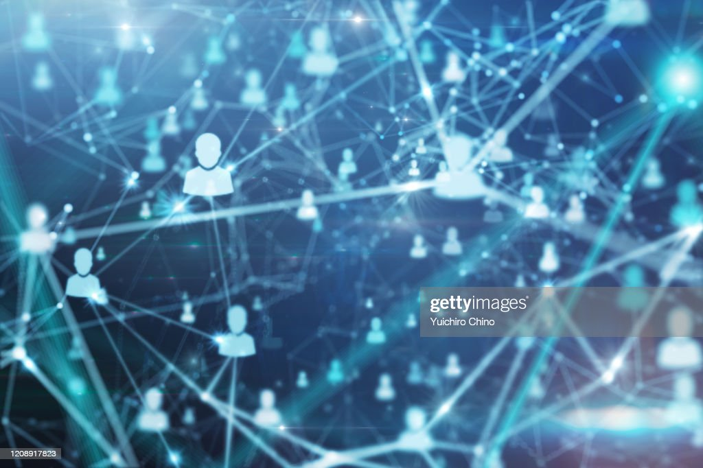 People and network communications : Stockfoto
