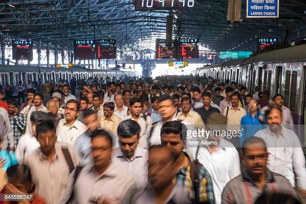 People and trains, Chhatrapati Shivaji Terminus