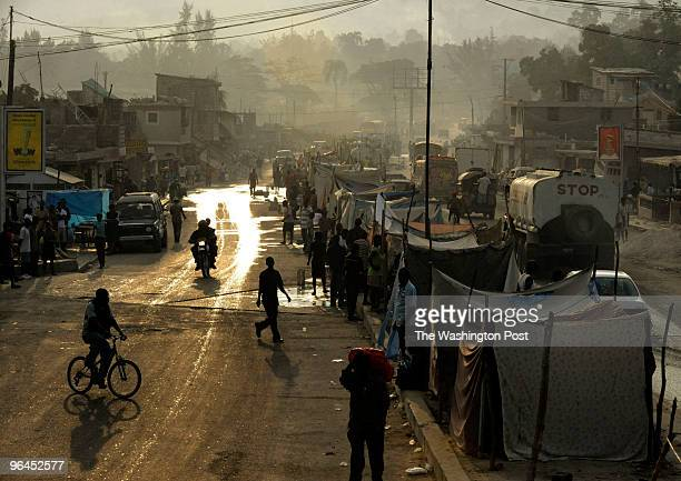 People appeared calm after a 61 aftershock rumbled through the city of PortAuPrince Haiti and its outskirts on Wednesday January 20 2010