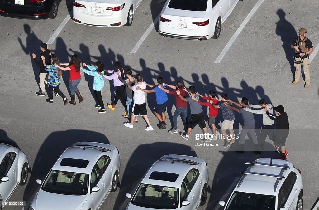 Shooting At High School In Parkland, Florida Injures Multiple People : News Photo