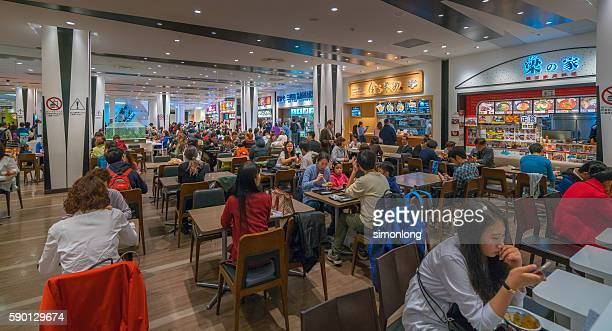 People are enjoying their meal at Odaiba food court ,Tokyo