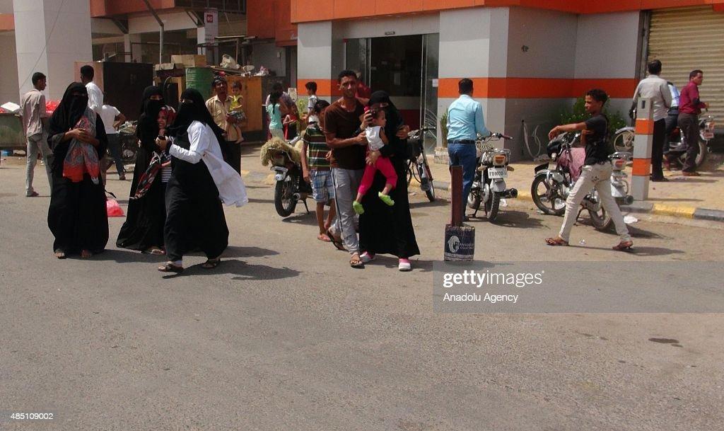 Saudi-led coalition air strikes in Yemen : News Photo