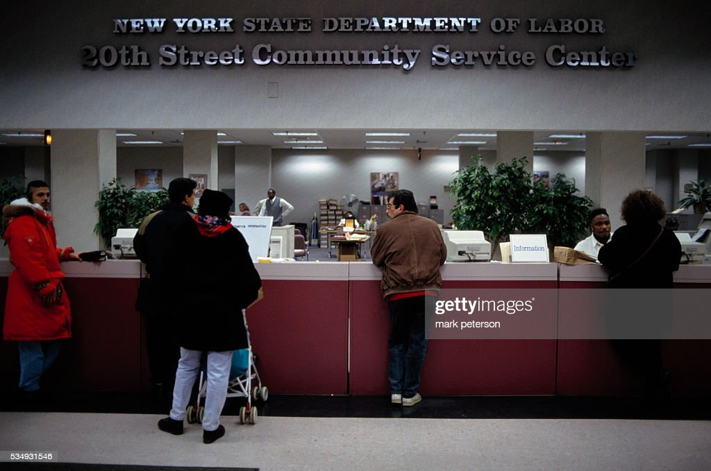 People Are Lined Up At New Yorks Unemployment Office