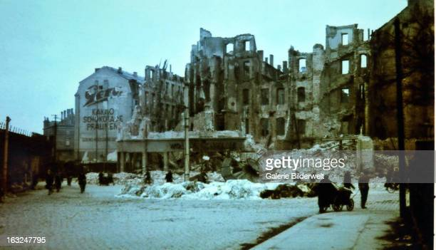People are looking for firewood furniture and other items in the ruins of Dresden February 1945 In four raids between February 13th and 15th bombers...
