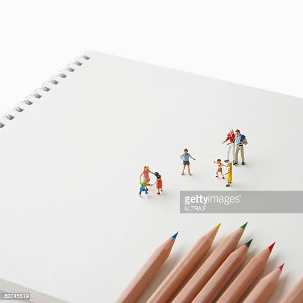 People are on the sketchbook.