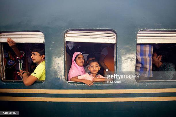People are ready to travel to their villages by train in Dhaka Bangladesh July 15 2015 Millions of Bangladeshis are expected to travel home Journeys...