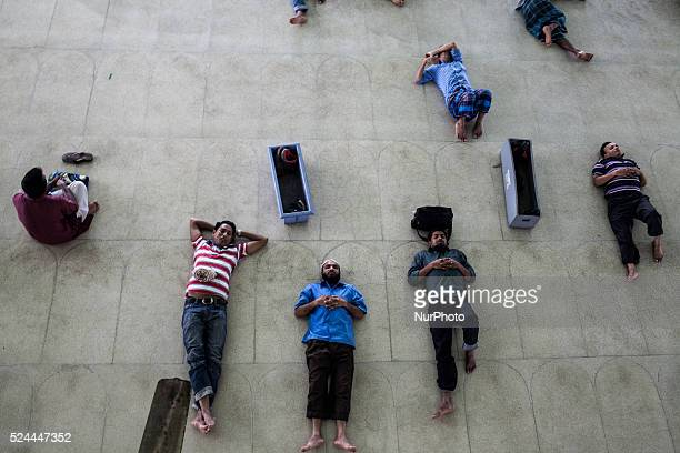 People Are Resting After The Jummah Prayer In National Mosque Of Bangladesh Dhaka June 26 2015