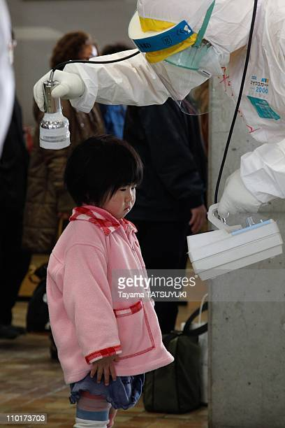 People are screened for radiation exposure in a testing centre on March 16 2011 in Koriyama City Fukushima Prefecture Japan The Fukushima Daiichi...