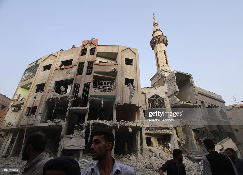 Assad regime forces stage air-strike over civilians in Douma of Damascus : News Photo