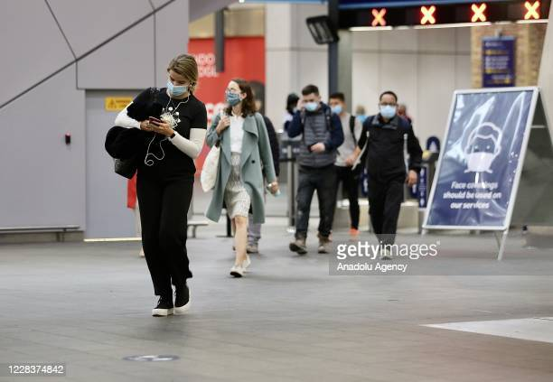 People are seen at a subway station in London, United Kingdom on September 06, 2020. UK sees biggest jump in coronavirus cases since 107 days. 2,988...
