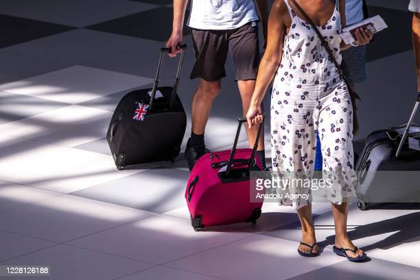 """People are seen at Split International Airport as United Kingdom has removed Croatia from the list of """"safe countries"""" to travel due to rising number..."""