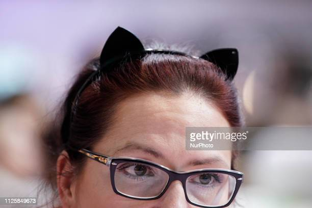 People are seen attending a cat exhibition at Hala Gwardii in Warsaw Poland on February 17 2019 Contrary to the rest of the world where Interantional...