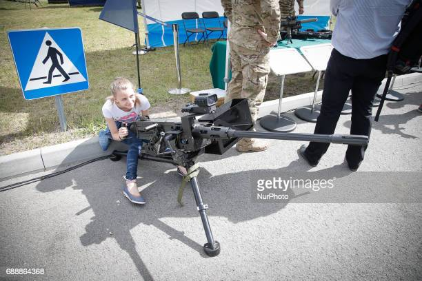 People are seen attending the 2017 Air Fair in Bydgoszcz Poland on 26 May 2017 The fair is organized at the local air force base and is a chance for...