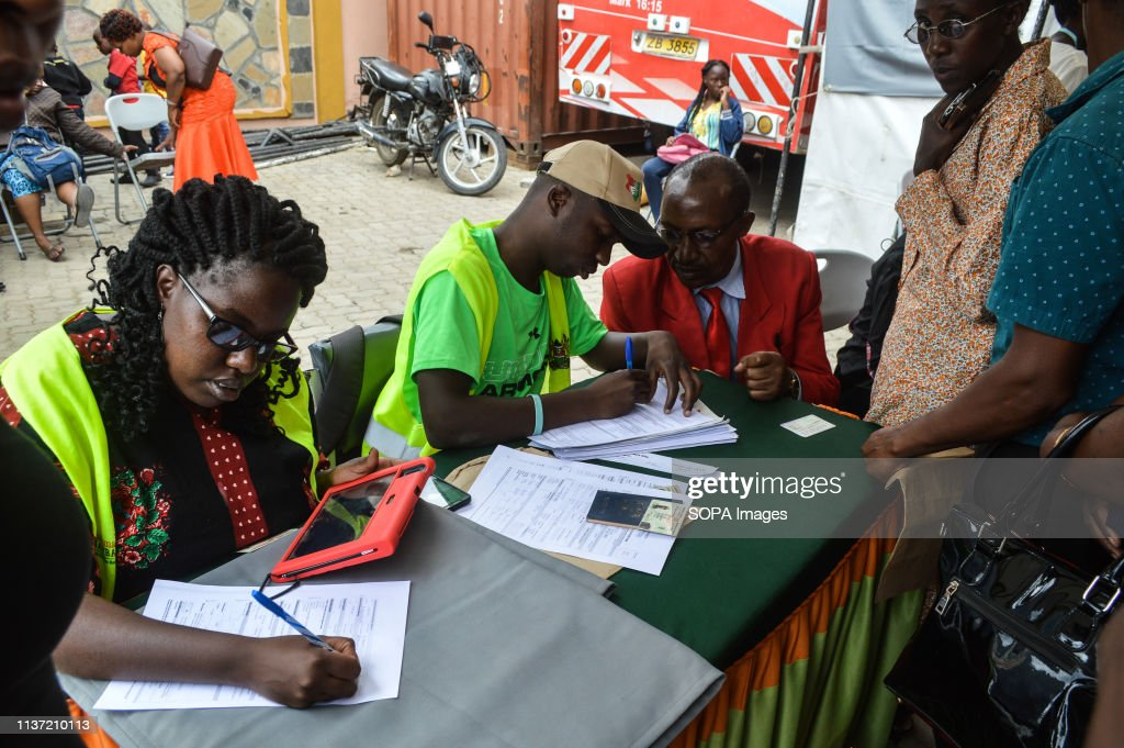 People are seen being registered for Huduma Namba, Kenyas... : News Photo