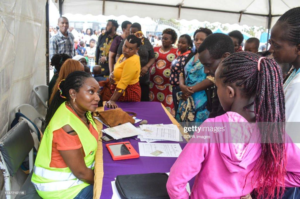 People are seen being registered for Huduma Namba, Kenyas... : News Photo