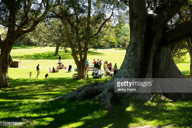 People are seen during a picnic in Centennial Park on September 26, 2020 in Sydney, Australia. Coronavirus restrictions continue to relax for...