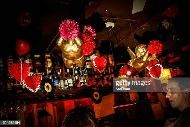 People are seen in a bar in the university city of Leiden where a singles party was organised on Valentines day Valentines day is struggling with...