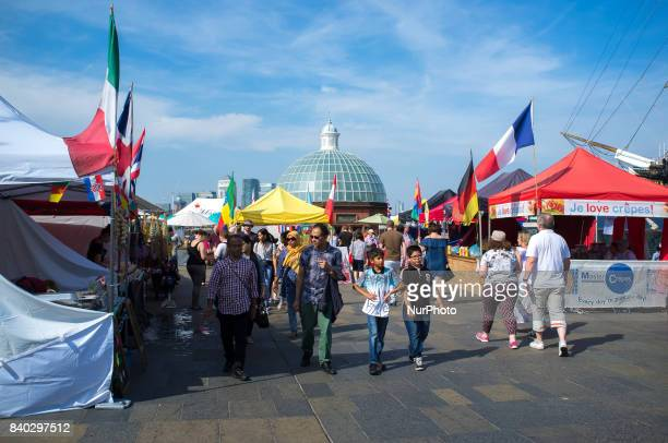 People are seen in Greenwich as the weather is sunny on Bank Holiday London on August 28 2017 The August Bank Holiday has seen sunny weather and hot...
