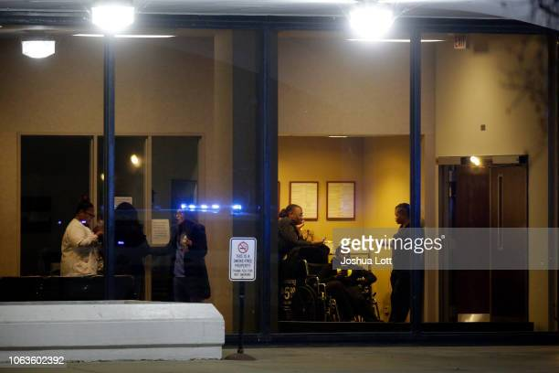 People are seen inside Mercy Hospital where a gunman shot multiple people on November 19 2018 in Chicago Illinois Three people including Chicago...