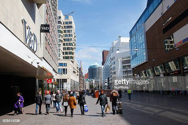 People are seen on one of the main shopping avenues in The Hague on Friday May 1st Contrary to many other EU states Labour Day is not a day off from...