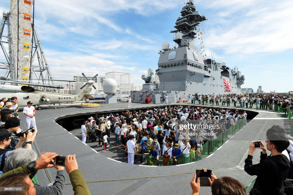 JMSDF Helicopter Carrier Kaga Opens To Public