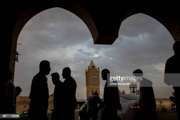 People are seen on the street in the old city on October 27 2017 in Erbil Iraq After the Kurdish Regional Government held an independence referendum...
