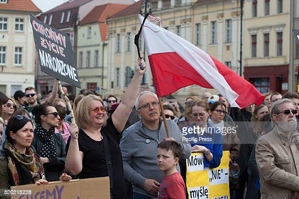 People are seen protesting against a law proposed by the ruling conservative PiS party which would criminalize abortion Currently in Poland abortion...