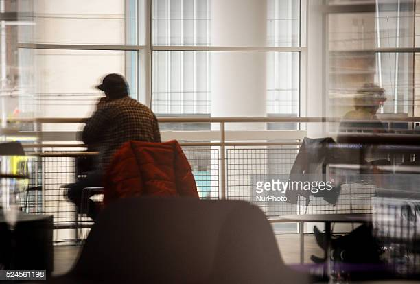 People are seen reading in the public library in The Hague on Friday, May 1st. Contrary to many other EU states Labour Day is not a day off from work...
