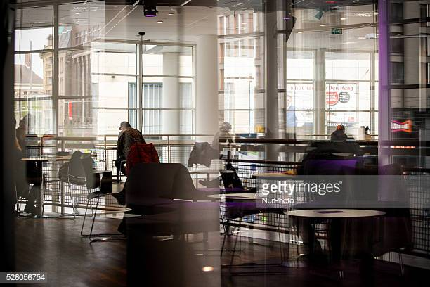 People are seen reading in the public library in The Hague on Friday May 1st Contrary to many other EU states Labour Day is not a day off from work...