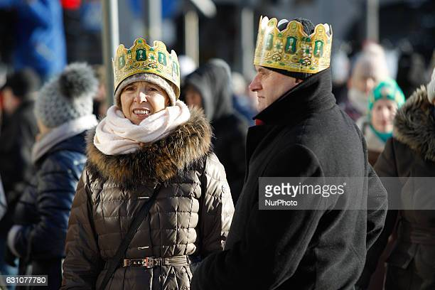People are seen taking part in the Three Kings Day celebrations in Bydgoszcz Poland on 6 January 2017