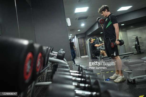 People are seen using the gym at Brixton Recreation Centre on December 2, 2020 in London, England. Last night MPs voted in favour of government...