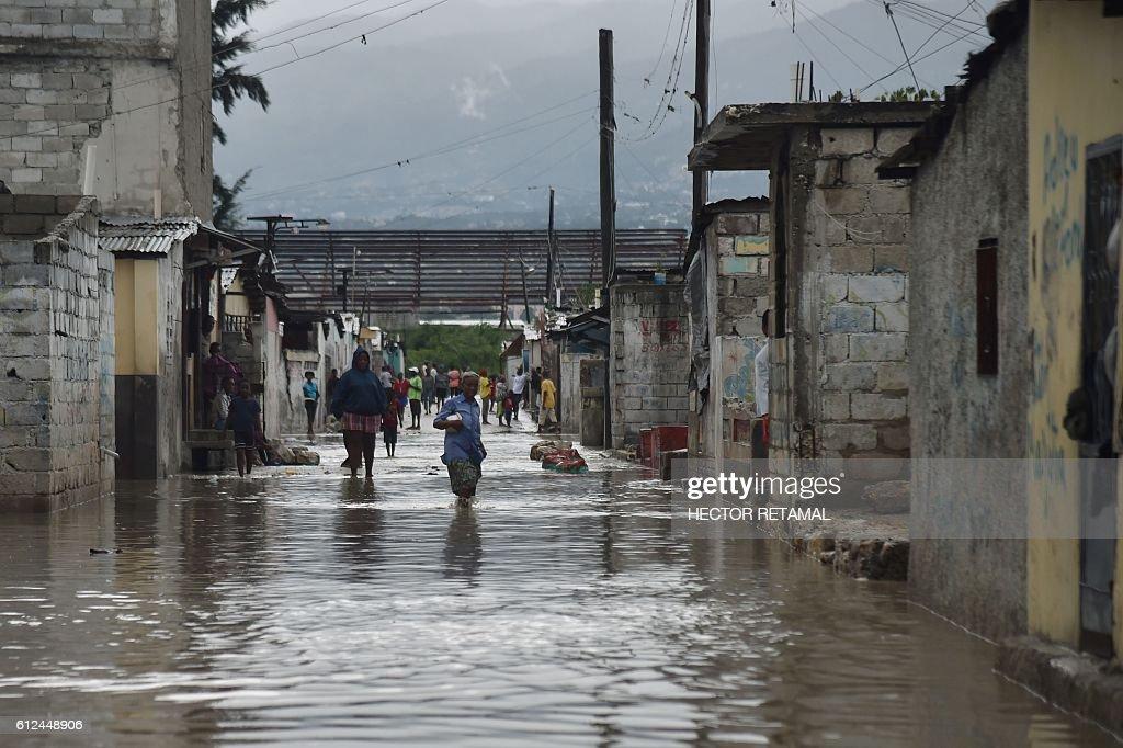 HAITI-CARIBBEAN-WEATHER-HURRICANE : News Photo