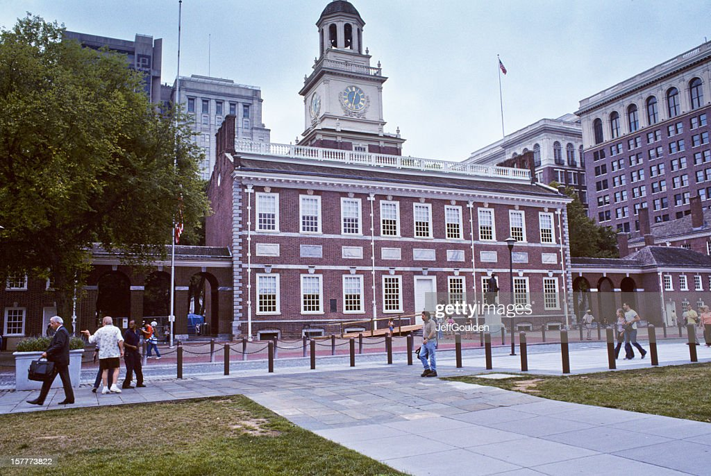 Historic Independence Hall on a Cloudy Summer Day : Stock Photo