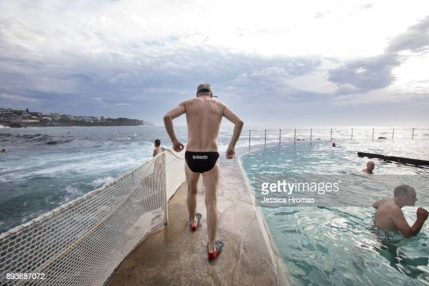 People are up early for their morning swim and exercise at the ocean pool at Bronte Beach on December 16 2017 in Sydney Australia Sydney has been...
