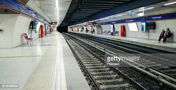 people are waiting for izmir metro - izmir stock pictures, royalty-free photos & images